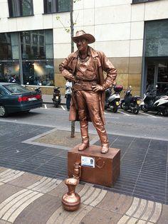 Homme statue - Las Ramblas - #Barcelona