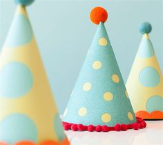 Party hats. Make It Now with the Cricut Explore machine in Cricut Design Space