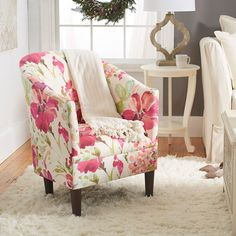 Love this floral accent chair!