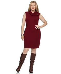 ac96dd0950b Sleeveless dress with knee-high boots Knee High Boots