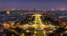 View from the Eiffel Tower  This is the view you get of the Champ de Mars looking toward the tour Montparnasse its funny to see such a big field in the middle of Paris; What a city!  #photoserge #champsdemars #view #eiffeltower #paris #cityoflight #horizon by photoserge