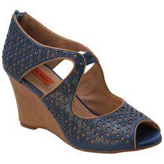 Buy Blue Black Red Miz Mooz Women's Tamryn Wedge Sandal shoes