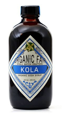 One of my favorite 'cola' syrups - Kola is made from organic cane sugar & traditional herbs and spices. I am a big fan.