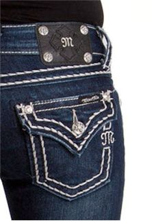 Miss Me Jeans Thick Stitch Plain Pocket love my Miss Me jeans