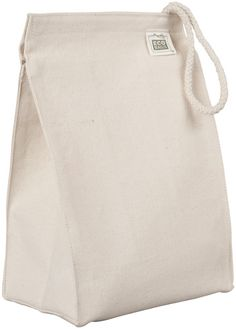 GOTS Organic Cotton Canvas Lunch Bag - ECOBAGS.com - Thinking I might be purchasing some of these.