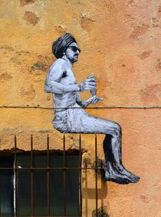 Fakir ! / Street art. / By an unknown street-artist.