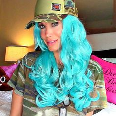 SNAPCHAT Q&A | CHANNON ROSE Long Curly Costume Wig - Ice Blue #abhair #wig #cosplay #costume