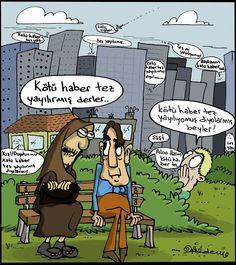 Kötü Haber Tez Yayılır Karikatürü Erdem Toker