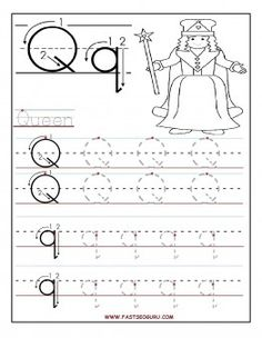 Letter Q Worksheets Preschool Printable Letter Q Tracing Worksheets for Preschool Letter Worksheets For Preschool, Writing Practice Worksheets, Preschool Writing, Preschool Letters, Alphabet Worksheets, Kindergarten Worksheets, Handwriting Worksheets, Q Crafts For Preschool, Handwriting Practice