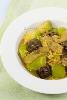 El guiso de calabacín las setas hongo de bambú Conpoy [luz deliciosa] cocida con melón Hairy Hongo de bambú