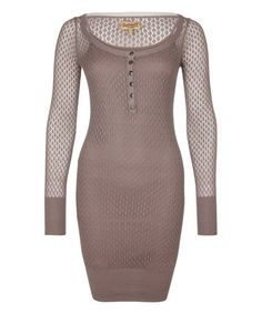 Look what I found on #zulily! Mud Open-Kint Boatneck Dress #zulilyfinds