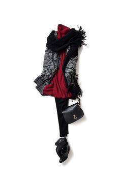 ニットスタイルでかっこいい女らしさを目指す 2015-12-07 | dress price :18,360 brand : ebony eyes