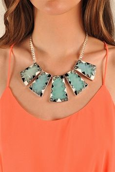 Topaz Statement Necklace - Silver