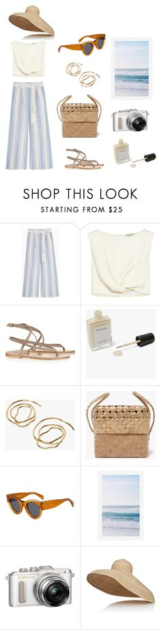 """Beachy Dreams"" by stephc ❤ liked on Polyvore featuring Max&Co., Rachel Comey, K. Jacques, J. Hannah, CÉLINE, Pottery Barn, Olympus and Lola"