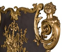 A rare gilt bronze firescreen with espagnolettes signed by François LINKE and BOUHON Frères, circa 1900 Charred Wood, Bronze, Rococo, Styles, Classic Style, Art Nouveau, Empire, Interior Decorating, Antiques