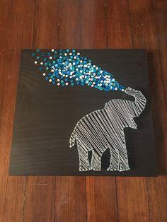 Elephant String Art by HomeSweetHomesDecor on Etsy