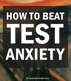 Tips on how to reduce test anxiety from a recent graduate!
