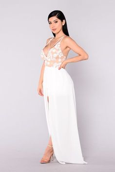 62b2e10d5ac Fell From Heaven Embroidered Dress - White Nude