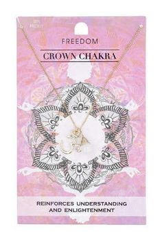 TopShop Womens Crown Chakra Necklace - Clear