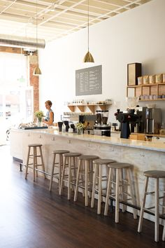 Local city guide—Seattle. Elm Coffee Roasters: Pioneer Square. (What we love: bright and airy. The perfect place to settle in with a book and a latte).