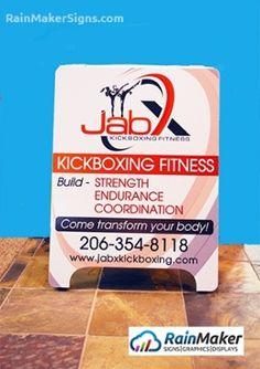 Custom Logo Wall Graphic for New Fitness Business - Bellevue WA Kickboxing Workout, Custom Logos, Wall Murals, Signage, Sidewalk, Boards, Branding, Business, Interior