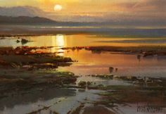 Sharing The World Together: Artist Ivars Jansons Watercolor Landscape, Abstract Landscape, Watercolor Paintings, Seascape Paintings, Landscape Paintings, Australian Painters, Am Meer, Watercolor Techniques, Painting Inspiration