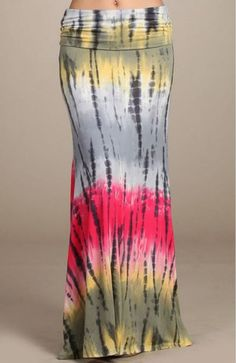 Chatoyant Tie Dye Maxi Skirt - Multicolors Fold over Waist, ultra soft and flow-y Patterns may vary and patterns might not line up Sizes S-M-L Tie Dye Maxi, Tye Dye, Tie Dye Skirt, Shibori Fabric, Tie And Dye, Long Maxi Skirts, Tie Dye T Shirts, Summer Of Love, Boutique