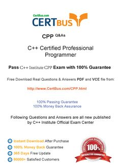 Candidate need to purchase the latest CPP Dumps with latest CPP Exam Questions. Here is a suggestion for you: Here you can find the latest CPP New Questions in their OOOOO PDF, CPP VCE and CPP braindumps. Their CPP exam dumps are with the latest CPP exam question. With CPP pdf dumps, you will be successful. Highly recommend this CPP Practice Test. If you need a good CPP study guide, this CPP vce dumps should be your first choice.    http://www.certbus.com/CPP.html