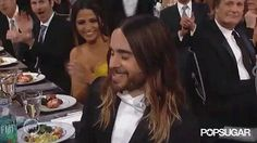 Jared Leto gave his mom, Constance, a kiss before accepting his SAG   Kiss Award Season Goodbye With the Best Smooches   POPSUGAR Love & Sex