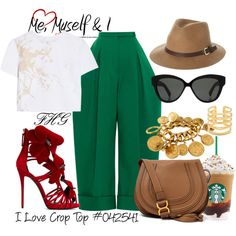 I Love Crop Top #042541 by fashionhuntergirl on Polyvore featuring Zimmermann, Delpozo, Giuseppe Zanotti, Chloé, Chanel, Stella & Dot, Linda Farrow, Rusty, croptop and stylish