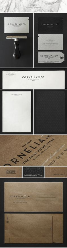 CORNELIA and CO [ Brand identity & Packaging ] by Oriol Gil, #stationary #geschaeftsausstattung #corporate #design #corporatedesign >> www.facebook.com/BlickeDeeler