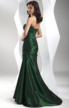£89 Gorgeous Mermaid Floor-length Sweetheart Dark Green Satin Dress 113-pro-hsha_en_1_41_24 - Dressesonlineshops.co.uk