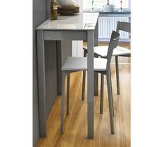 Mesa de cocina Single Unicca 90x37x75. Ampliable a lo largo.