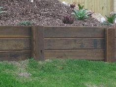 diy retaining wall - Google Search