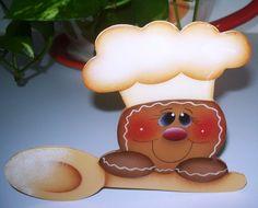 Handpainted Gingerbread Fridge Magnet por stephskeepsakes en Etsy, $6.50