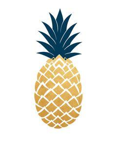 Art imprimable de Art Print jaune ananas ananas par honeytreeprints