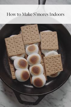 Watch and learn how to make s'mores indoors, no campfire included.