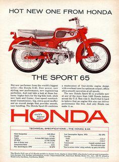 1965 Honda S-65 Motorcycle Advertisement Road & Track June 1965 | Flickr - Photo Sharing!