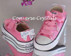 1fab16d46b71 Infant Custom Crystal  Bling  Converse - Single Row Crystals