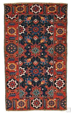 Lot 317, a Baluch Rug, Northeast Persia, late 19th century, 5 ft. 3 in. x 3 ft. Estimate $400-600
