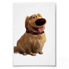 Dug the Dog from Disney Pixar UP - smiling Posters by disney