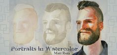 Portraits in Watercolor, an Online Watercolor Painting Class on Crafty
