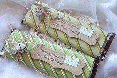 Chocolate Bar Treats - cute way to wrap Hershey bars.