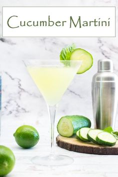 Cucumber Martini recipe #cocktail #drink #vodka #martini #liquor #ad @meijerstores
