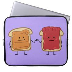 Peanut Butter and Jelly Fist Bump Computer Sleeve