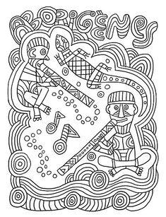 Coloring web page 5 Africa Oceania Fred Sochard Indigenous Australian Art, Australian Animals, Aboriginal Education, Aboriginal Art, Reptiles, New York City, Naidoc Week, Afrique Art, Work In Australia