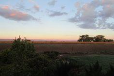 Pink-world over Linda's farm near Delta, CO