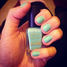 Barry M nail varnish #barrym #nailporn #pastel #jade #green