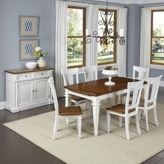 """Home Styles Americana 8 Piece Dining Set  Table: 30.25"""" H x 36.25"""" W x 50"""" L   $1,649.99"""