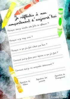 Fiche de réflexion - Here's a List of Education Companies Offering Free Subscriptions to . Classroom Management Techniques, Class Management, School Organisation, Classroom Organization, Education Positive, French Classroom, French Language Learning, Cycle 3, Study Inspiration